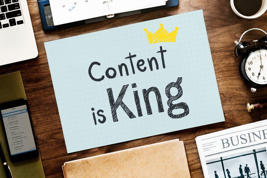 בבניית אתר התוכן הוא המלך